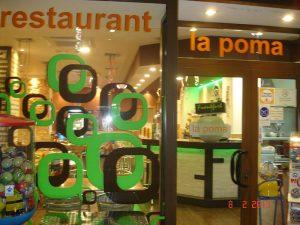 entrada restaurante la poma vilaseca